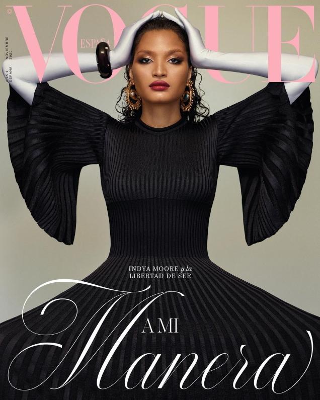 Vogue España November 2020 : Indya Moore by Thomas Whiteside