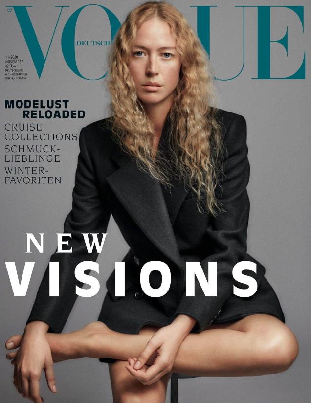 Vogue Germany November 2020 : Raquel Zimmermann by Chris Colls