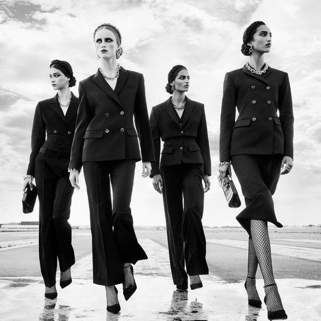 Zara F/W 2020.21 : Rianne, Mona, Mika & Sacha by Steven Meisel