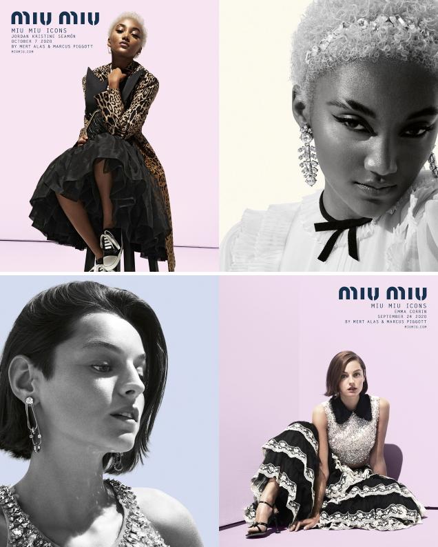 Miu Miu Resort 2021 by Mert Alas & Marcus Piggott