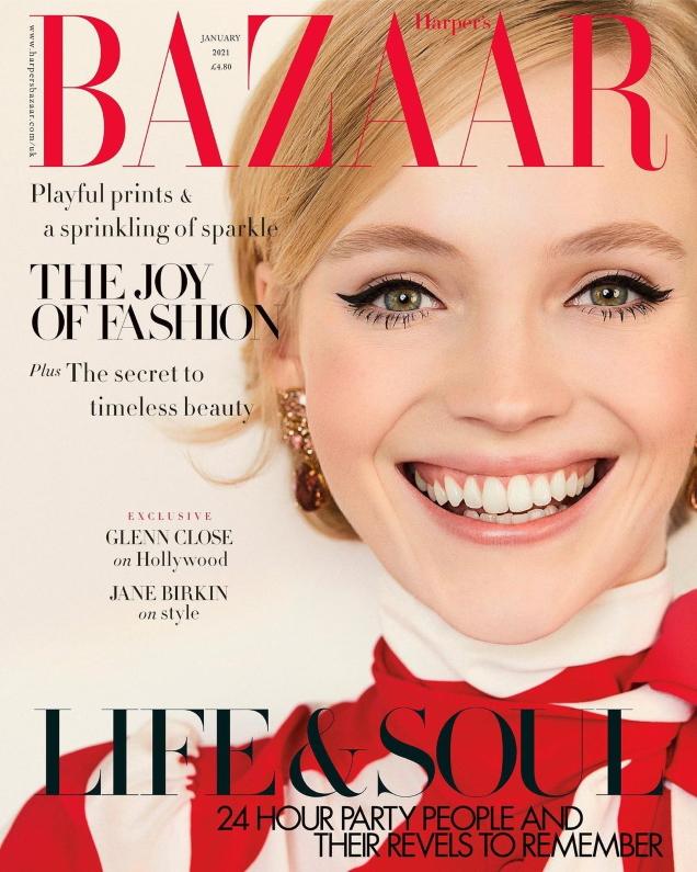 UK Harper's Bazaar January 2021 : Lucan Gillespie by Agata Pospieszynska