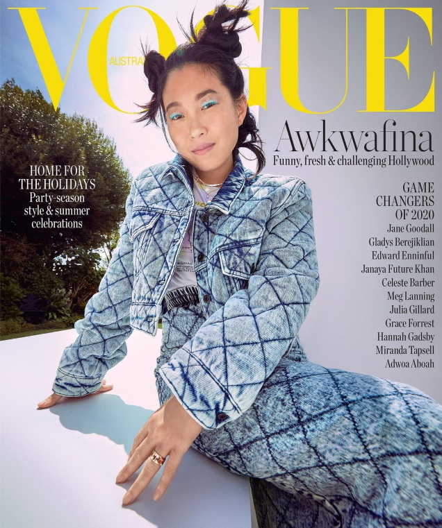 Vogue Australia December 2020 : Awkwafina by Charles Dennington