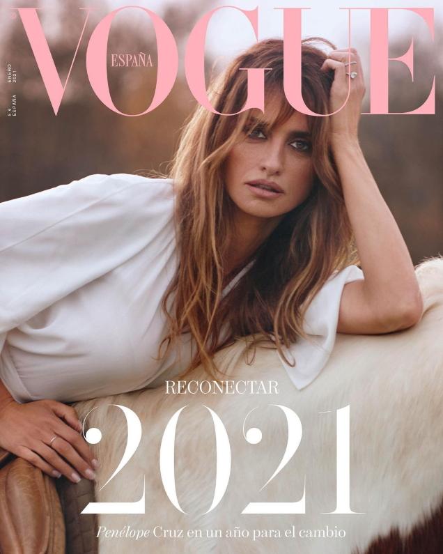 Vogue España January 2021 : Penélope Cruz by Nico Bustos