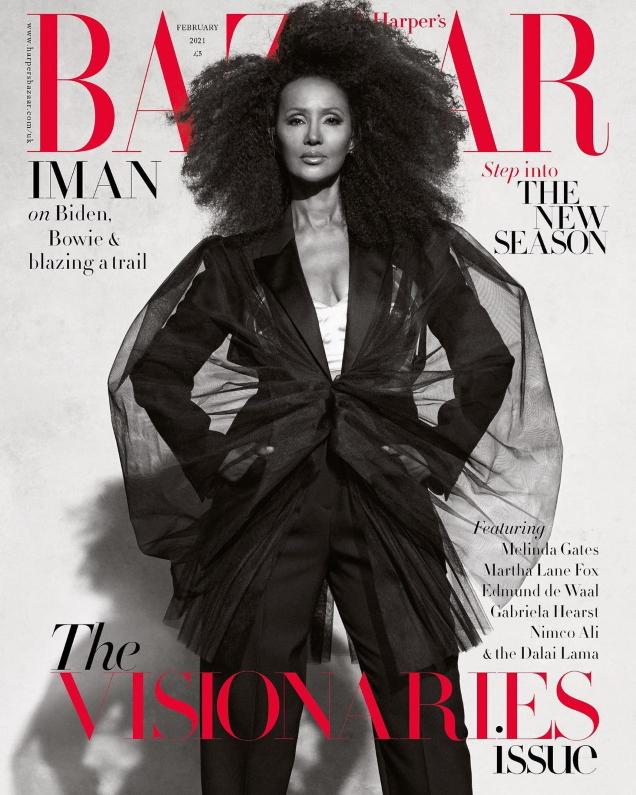 UK Harper's Bazaar February 2021 : Iman by Paola Kudacki