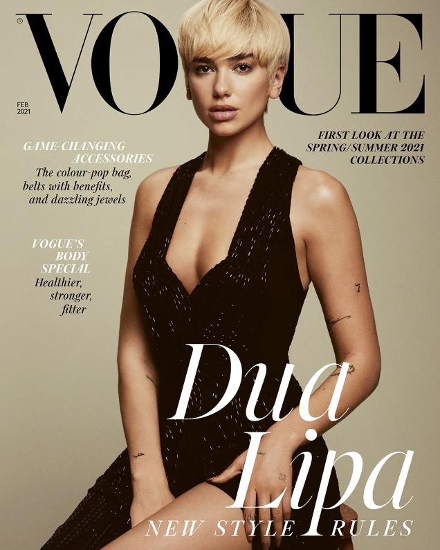 UK Vogue February 2021 : Dua Lipa by Emma Summerton