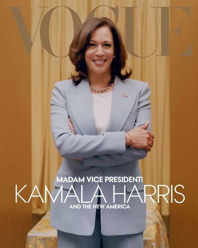 US Vogue February 2021 : Kamala Harris by Tyler Mitchell