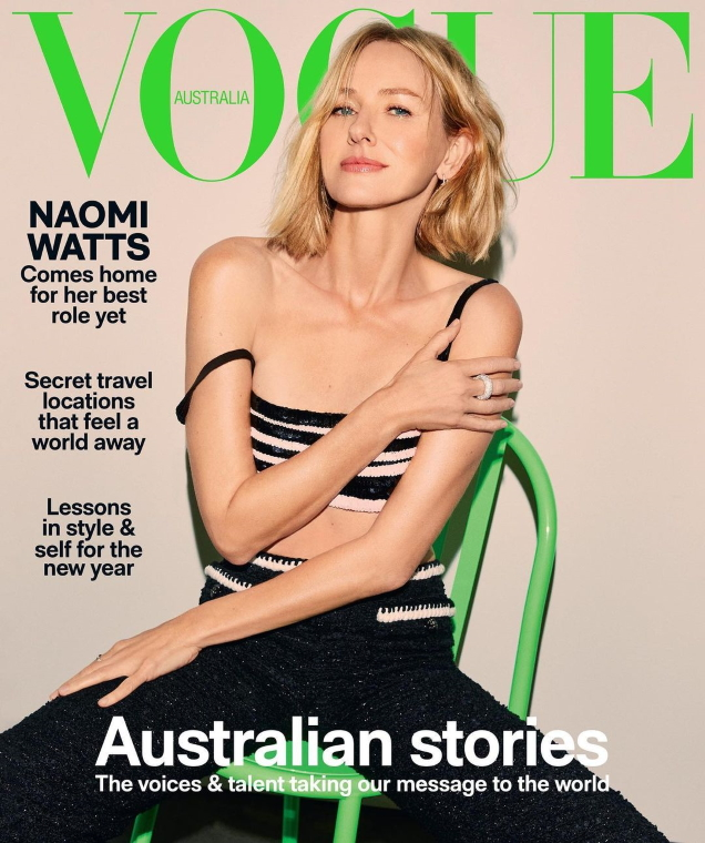 Vogue Australia January 2021 : Naomi Watts by Carin Backoff
