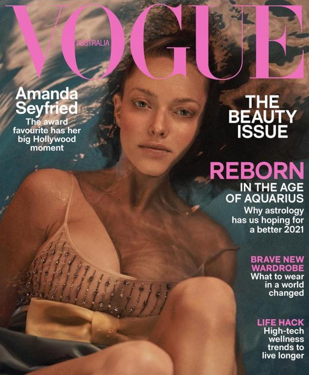 Vogue Australia February 2021 : Amanda Seyfried by Lachlan Bailey