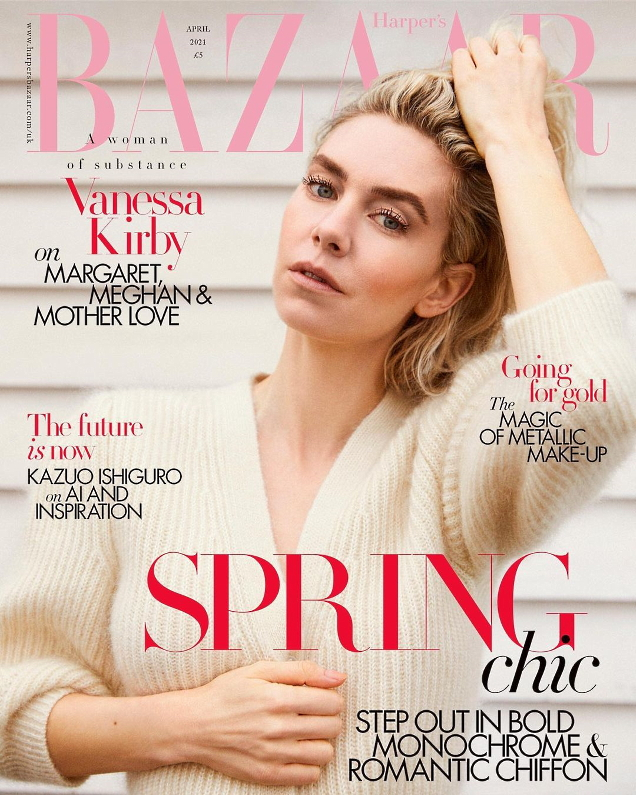 UK Harper's Bazaar April 2021 : Vanessa Kirby by Josh Shinner