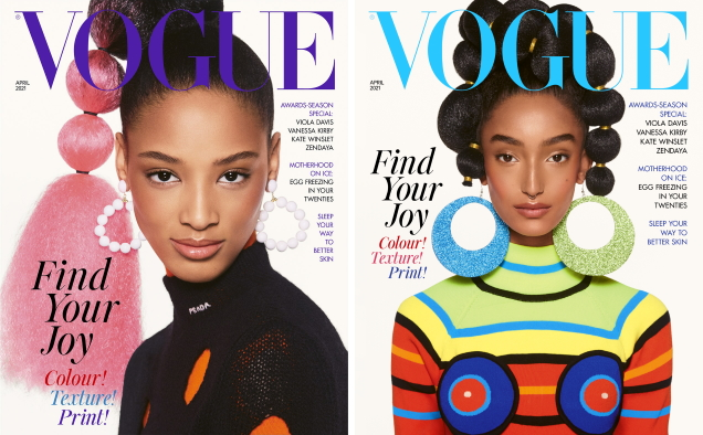 UK Vogue April 2021 : Achenrin, Precious, Mona & Janaye by Steven Meisel