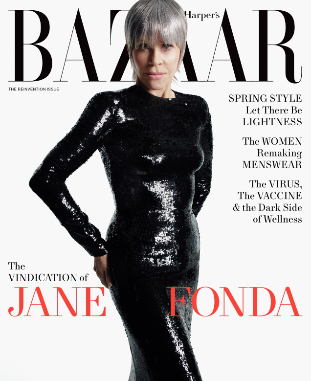 US Harper's Bazaar April 2021 : Jane Fonda by Mario Sorrenti
