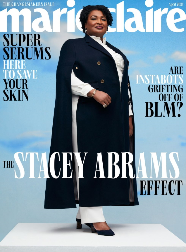US Marie Claire April 2021 : Stacey Abrams by AB+DM