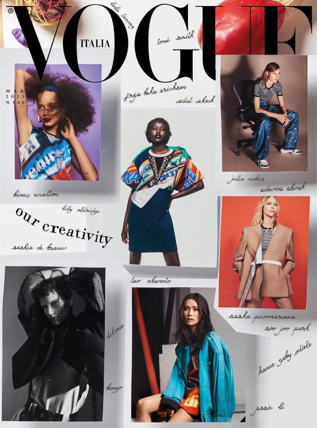 Vogue Italia March 2021 by Craig McDean