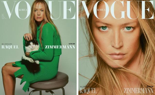 Vogue Korea April 2021 : Raquel Zimmermann by Chris Colls