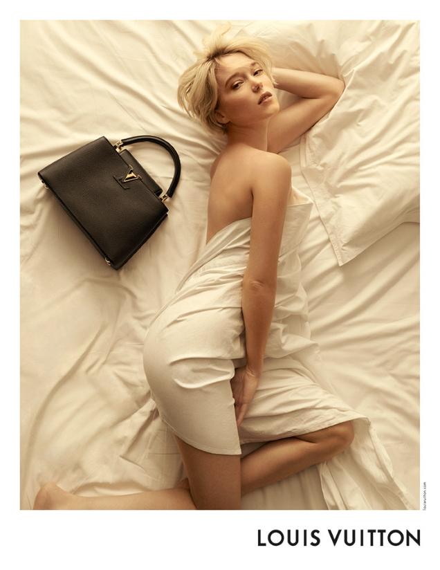 Louis Vuitton 'Capucines' Handbags 2021 : Léa Seydoux by Steven Meisel