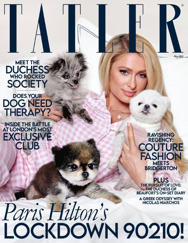 Tatler May 2021 : Paris Hilton by Yu Tsai
