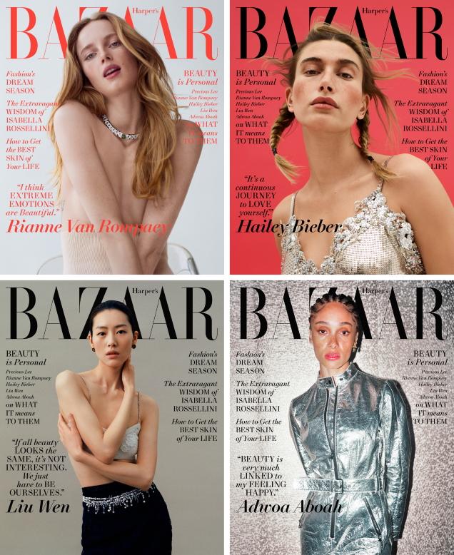 US Harper's Bazaar May 2021 : Precious Lee, Rianne van Rompaey, Hailey Bieber, Liu Wen & Adwoa Aboah
