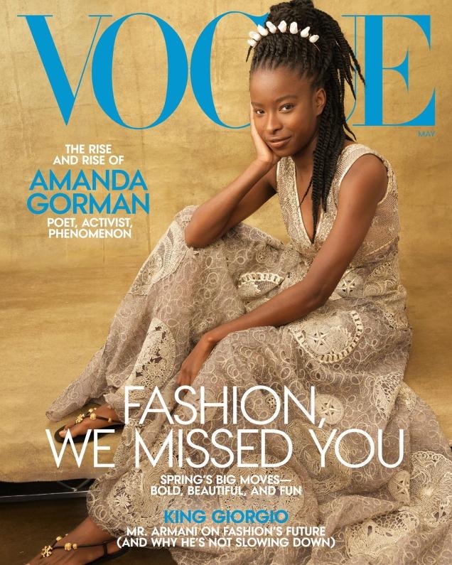 US Vogue May 2021 : Amanda Gorman by Annie Leibovitz