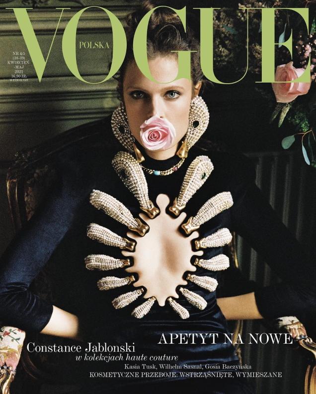 Vogue Poland April/May 2021 : Constance Jablonski by Branislav Simoncik