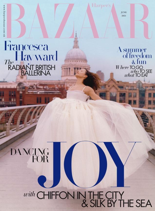 UK Harper's Bazaar June 2021 : Francesca Hayward by Jesse Jenkins