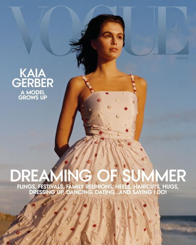 US Vogue June/July 2021 : Kaia Gerber by Colin Dodgson