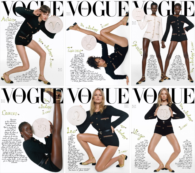 Vogue Italia May 2021 : The 'Astrology' Issue by Oliver Hadlee Pearch