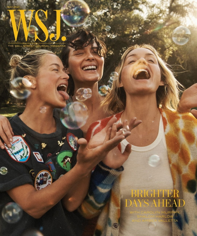 WSJ. Magazine May 2021 : Amber Valletta, Shalom Harlow & Carolyn Murphy by Lachlan Bailey