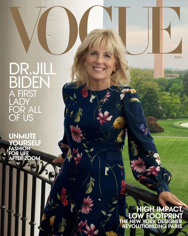 US Vogue August 2021 : Jill Biden by Annie Leibovitz