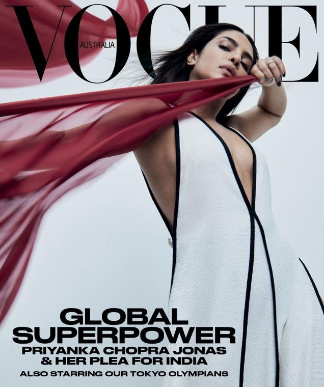 Vogue Australia June 2021 : Priyanka Chopra by Bibi Borthwick