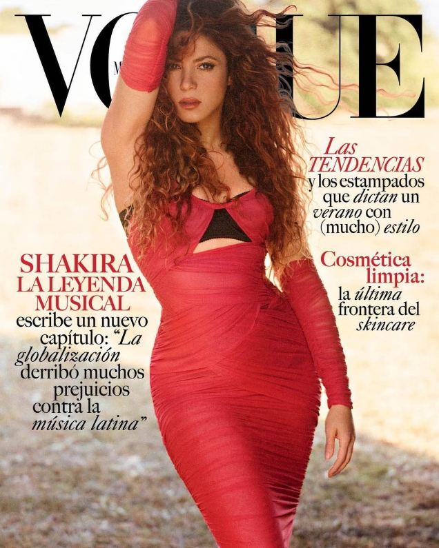 Vogue Mexico & Latin America July 2021 : Shakira by Nico Bustos