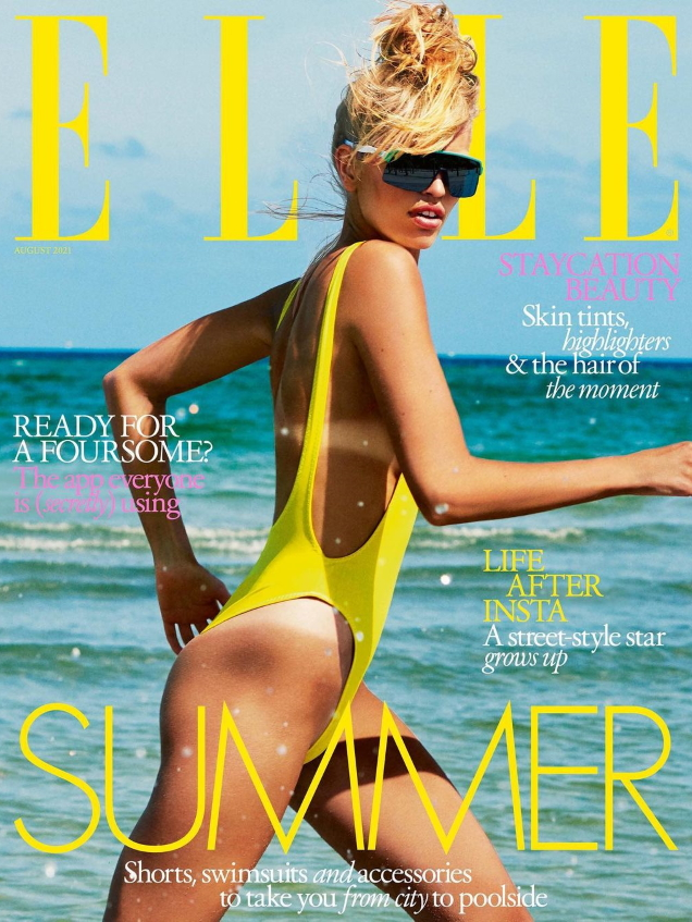 UK Elle August 2021 : Daphne Groeneveld by Laurie Bartley