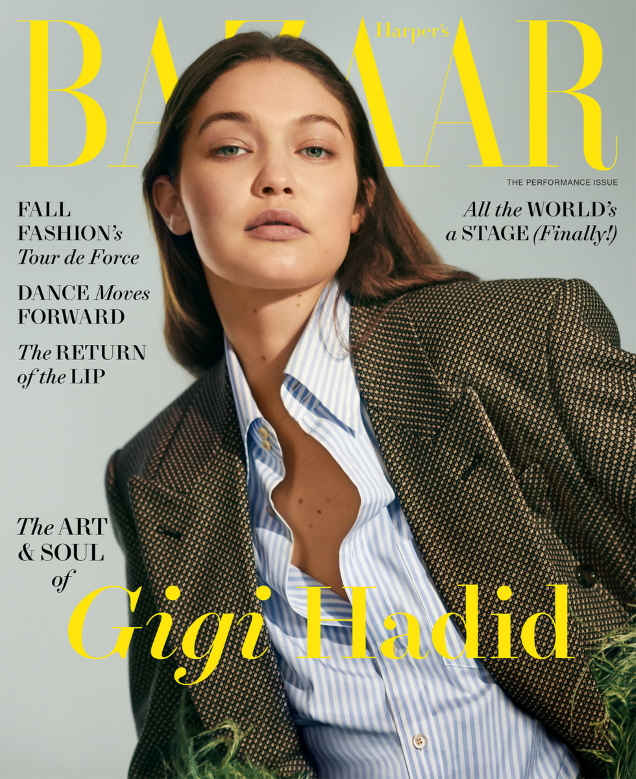 US Harper's Bazaar August 2021 : Gigi Hadid by Collier Schorr