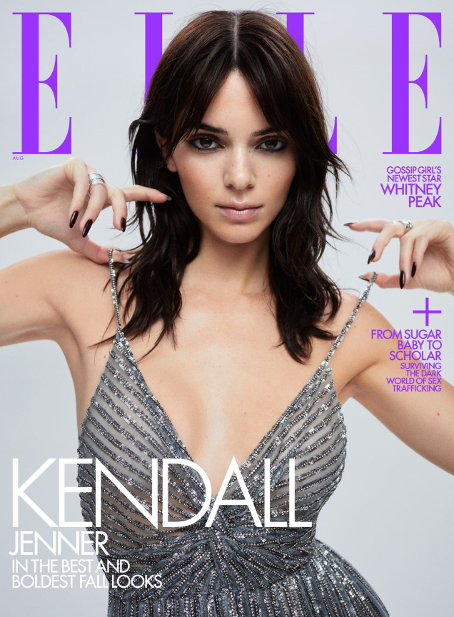 US Elle August 2021 : Adut Akech by Chris Colls & Kendall Jenner by Zoey Grossman