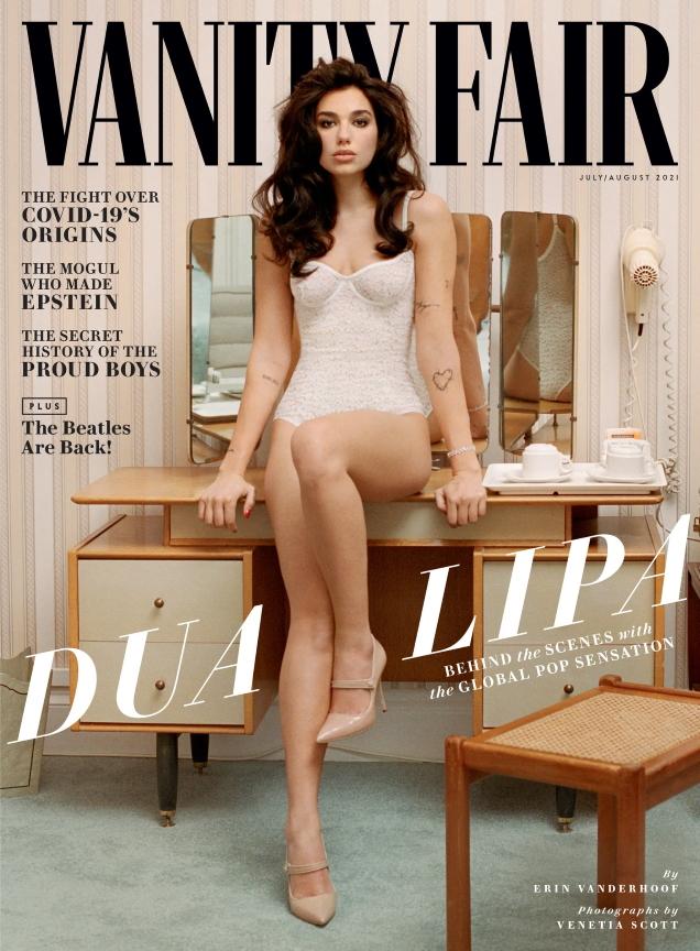 Vanity Fair July/August 2021 : Dua Lipa by Venetia Scott