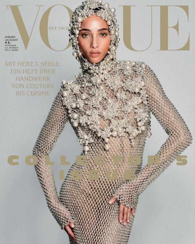Vogue Germany July/August 2021 : Yasmin Wijnaldum by Chris Colls