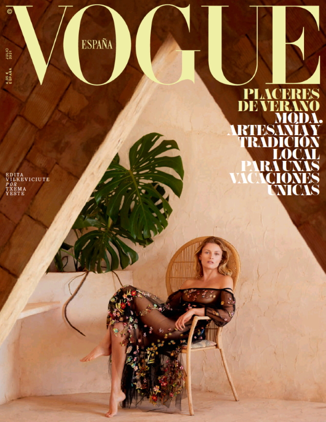 Vogue España July 2021 : Edita Vilkeviciute by Txema Yeste