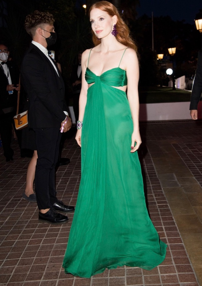 Jessica Chastain at the Chopard Trophy Dinner
