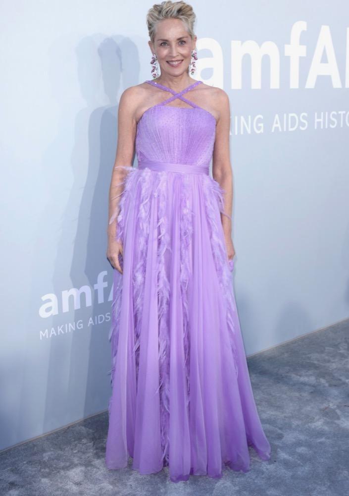 Sharon Stone at the 2021 amfAR Gala Cannes